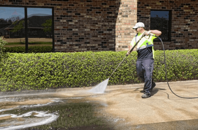 commercial concrete cleaning in carmel